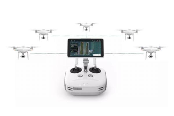 多倍效率提升!湖北大疆无人机 精灵4 RTK「一控多机」为国土航测按下加速键