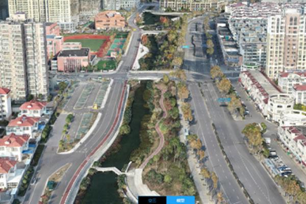 无人机三维实景建模-处理能力提升 4 倍  大疆智图 4 天完成 5 公里河道建模